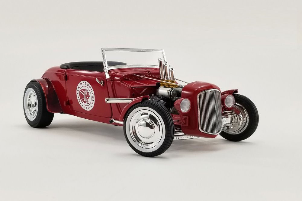 Indian Motorcycles 1934 Hot Rod Roadster, Red - GMP 18958 - 1/18 scale Diecast Model Toy Car