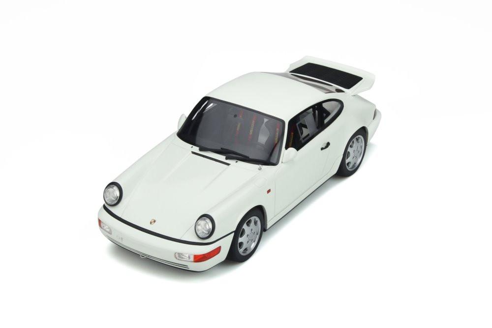 1991 Porsche 911 (964) Carrera 4 Lightweight Hardtop, Grand Prix White - GT Spirit GT319 - 1/18 scale Resin Model Toy Car