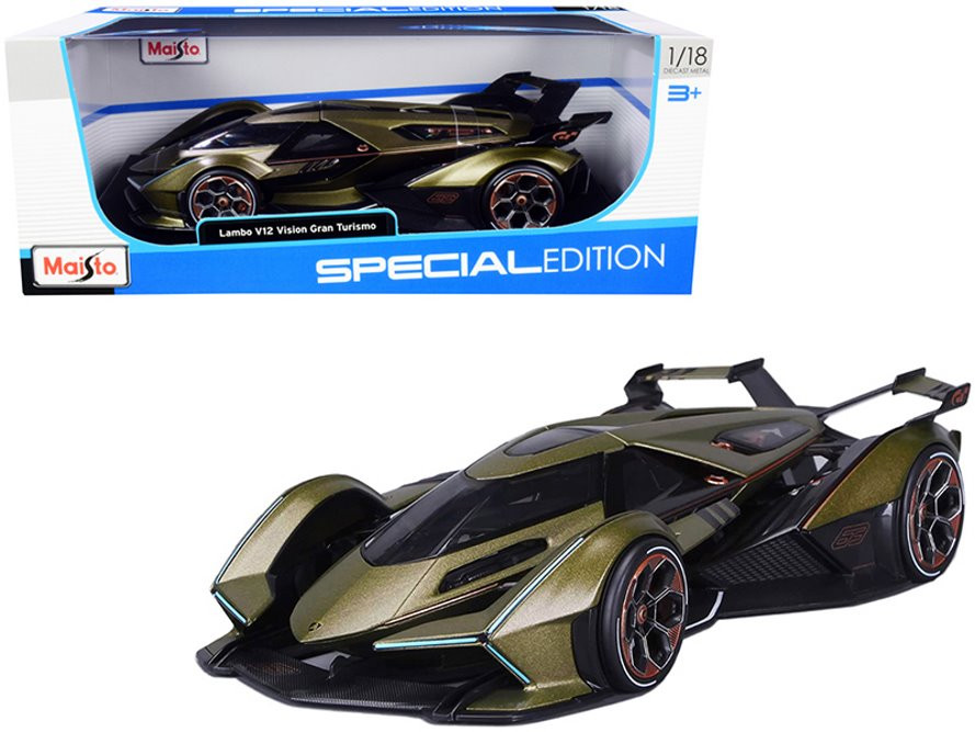 2020 Lamborghini V12 Vision Gran Turismo, Green - Maisto 31454GN/6 - 1/18 scale Diecast Model Toy Car