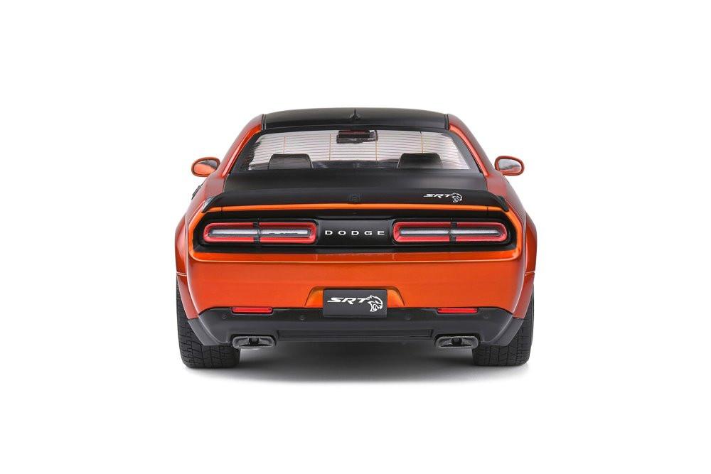 2020 Dodge Challenger SRT Widebody, Orange - Solido S1805703 - 1/18 scale Diecast Model Toy Car