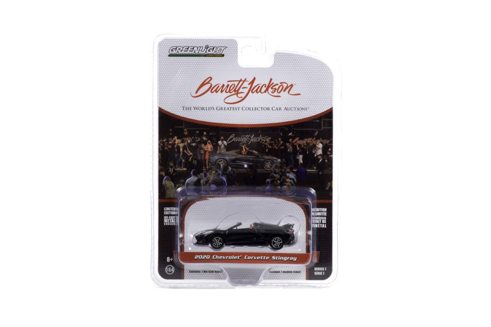2020 Chevy Corvette C8 Stingray (Lot #3002), Shadow Gray Metallic - Greenlight 37230F/48 - 1/64 scale Diecast Model Toy Car