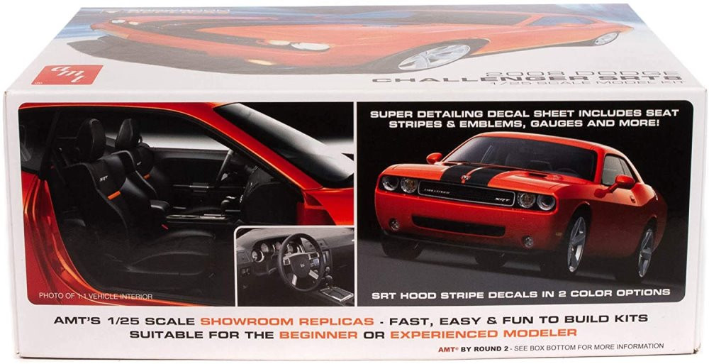 AMT 2008 Dodge Challenger SRT8, 1/25 scale Plastic Model Car Kit - AMT1075