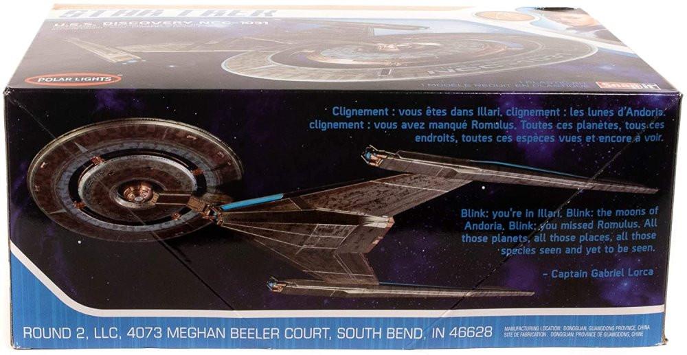 AMT Polar Lights Star Trek U.S.S. Discovery NCC-1031 (Snap), 1/2500 Scale Plastic Model Car Kit - POL961M