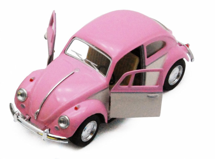 1967 Volkswagen Classical Beetle, Pink - Kinsmart 5375DY - 1/32 scale Diecast Model Toy Car (Brand New, but NOT IN BOX)