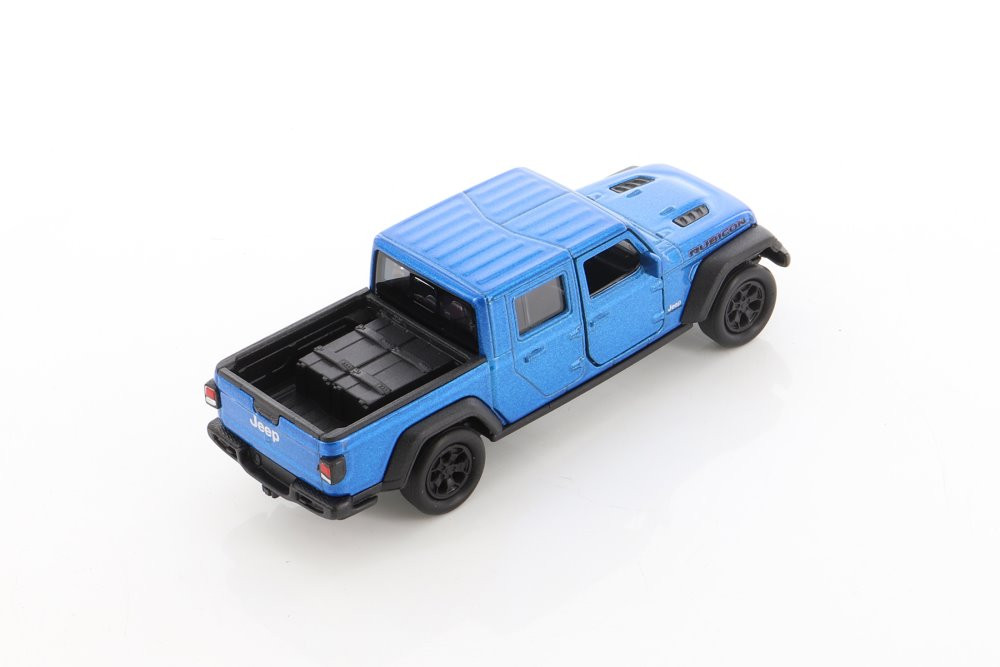 2020 Jeep Gladiator Pickup, Blue - Welly 43788D - 1/34 scale Diecast Model Toy Car