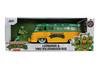 1962 Volkswagen Bus with Leonardo figure, Teenage Mutant Ninja Turtles - Jada Toys 31786 - 1/24 scale Diecast Model Toy Car