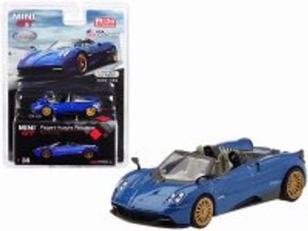 Pagani Huayra Roadster, Blue Francia - Mini GT MGT00038-MJ - 1/64 scale Diecast Model Toy Car