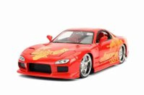 Mazda RX-7 Hardtop, Fast & Furious - Jada 30747 - 1/24 scale Diecast Model Toy Car