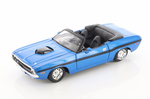 1970 Dodge Challenger R/T Convertible, Blue - Showcasts 34264 - 1/24 scale Diecast Model Toy Car