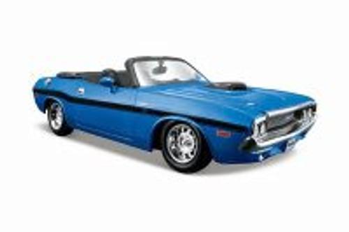 1970 Dodge Challenger R/T Convertible, Blue - Maisto 31264BU - 1/24 scale Diecast Model Toy Car