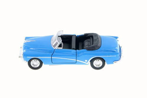Buick Skylark Convertible, Blue Top Down - Welly 43664H - 1/34 Scale Diecast Model Toy Car