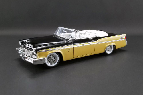 1956 Chrysler New Yorker St. Regis Convertible, Gold with Black and White - Acme A1809004 - 1/18 scale Diecast Model Toy Car