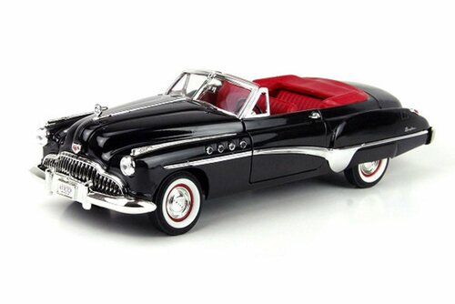 1949 Buick Roadmaster Convertible, Black - Motormax 73116TC/BK - 1/18 scale Diecast Model Toy Car
