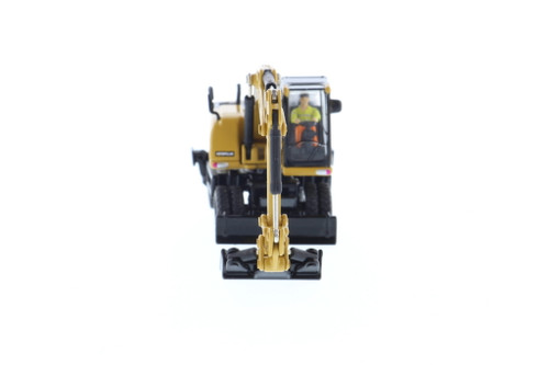 Caterpillar M318D Wheeled Excavator, Yellow - Diecast Masters 85177 - 1/87 scale Diecast Model Toy Car