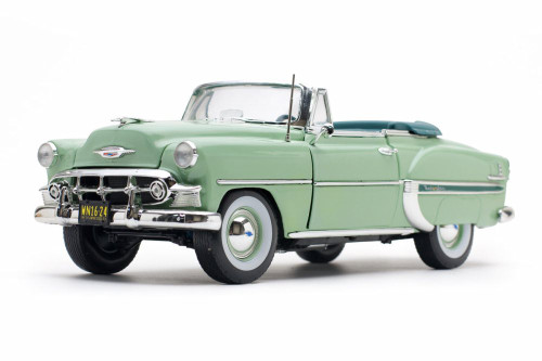 1953 Chevy Bel Air Open Convertible, Surf Green - Sun Star 1624 - 1/18 scale Diecast Model Toy Car