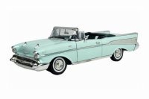 1957 Chevy Bel Air Convertible, Green - Motor Max 73175TC/GN - 1/18 scale Diecast Model Toy Car