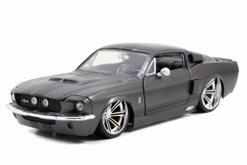 1967 Shelby GT500 Hardtop, Charcoal Gray - Jada 97411 - 1/24 Scale Diecast Model Toy Car