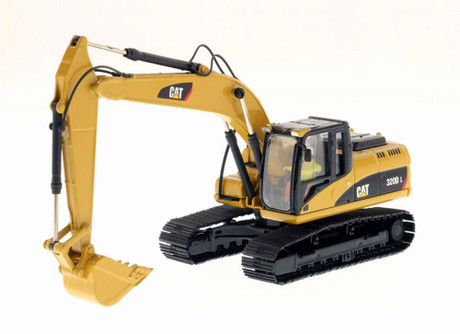Caterpillar 320D L Hydraulic Excavator, Yellow - Diecast Masters 85214C - 1/50 scale Diecast Model Toy Car