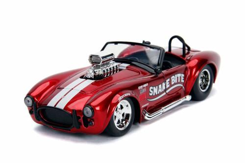 1965 Shelby Cobra 427 S/C Convertible, Candy Red - Jada 30705 - 1/24 scale Diecast Model Toy Car