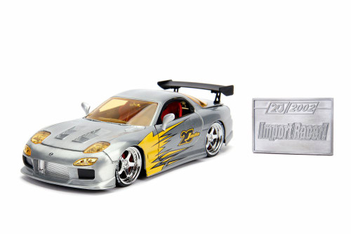 1983 Mazda RX-7 Hard Top with Diecast Mosaic Tile, 20th Anniversary - Jada 31088 - 1/24 scale Diecast Model Toy Car