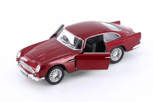 1963 Aston Martin Vulcan Hard Top, Red - Kinsmart 5406D - 1/38 scale Diecast Model Toy Car