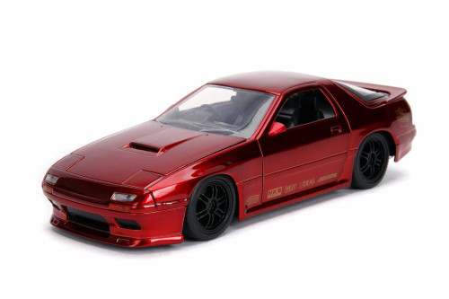 1985 Mazda RX-7 (FC), Candy Red - Jada 30941 - 1/24 scale Diecast Model Toy Car