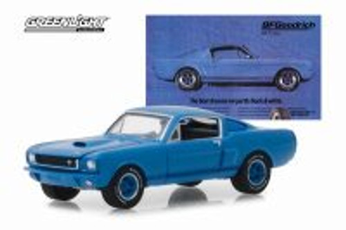 """1966 Shelby GT350, """"The Best Dreams Are Partly Black & White"""" BFGoodrich Vintage Ad Car - Greenlight 29975/48 - 1/64 scale Diecast Model Toy Car"""