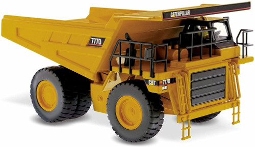 Caterpillar 777D Off Highway Truck, Yellow - Diecast Masters 85104C - 1/50 scale Diecast Model Toy Car
