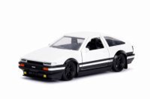 1989 Toyota Corolla Trueno AE86 Hard Top, White - Jada 30882DP1 - 1/32 scale Diecast Model Toy Car