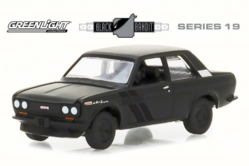 1968 Datsun 510, Black - Greenlight 27950A/48 - 1/64 Scale Diecast Model Toy Car