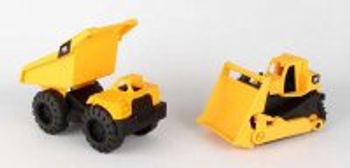 Caterpillar Mini Worker Dump Truck w/ Bulldozer, Yellow - Daron CAT82087 -  Toy Construction Car