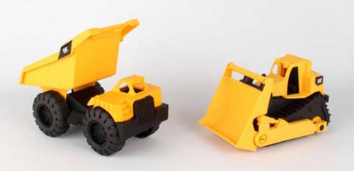 Caterpillar Mini Worker Dump Truck w/ Bulldozer, Yellow - Daron CAT82087 -  Toy Construction Car