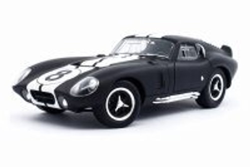 1965 Shelby Cobra Daytona Coupe, Matte Black - Lucky Road Signature 92408MBK - 1/18 scale Diecast Model Toy Car