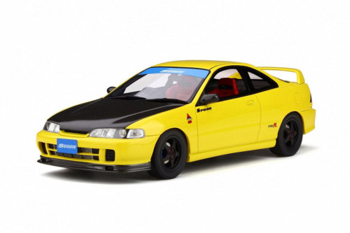 1998 Honda Integra DC2 Spoon, Yellow with Black hood - Ottomobile OT792 - 1/18 scale Resin Model Toy Car