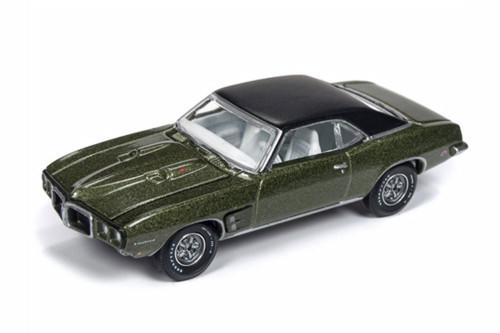 1969 Pontiac Firebird, Green - Auto World AW64192/48B - 1/64 scale Diecast Model Toy Car