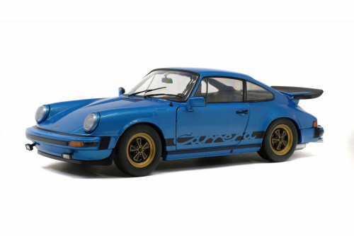 1984 Porsche 911 Carrera 3.0 Coupe, Minerva Blue - Solido S1802601 - 1/18 scale Diecast Model Toy Car