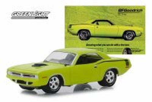 1970 Plymouth HEMI Barracuda, Lime Green - Greenlight 29977/48 - 1/64 scale Diecast Model Toy Car