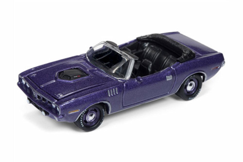 1971 Plymouth Cuda Convertible, Violet - Round 2 JLMC016/48B - 1/64 scale Diecast Model Toy Car
