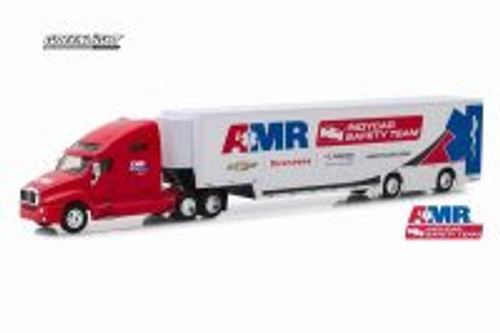 Kenworth T2000 AMR IndyCar Safety Team Transporter, Red and White - Greenlight 30038/24 - 1/64 scale Diecast Model Toy Car