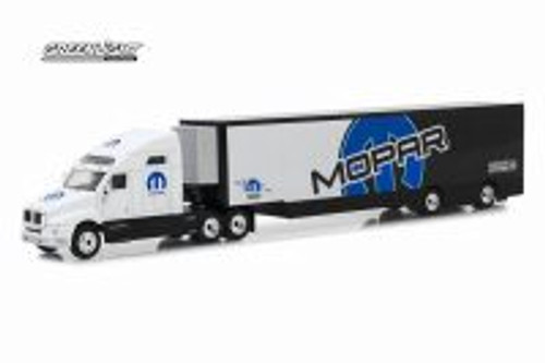 2018 Kenworth T2000 MOPAR Transporter, White and Black - Greenlight 29963/24 - 1/64 scale Diecast Model Toy Car