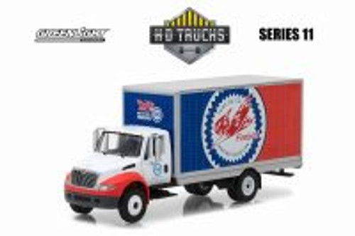 2013 International Durastar Box Truck Pure Oil, Firebird Racing - Greenlight 33110/48 - 1/64 Scale Diecast Model Toy Car