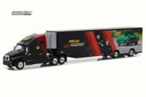 2017 Kenworth T2000 Transporter, Black - Greenlight 29928 - 1/64 Scale Diecast Model Toy Car