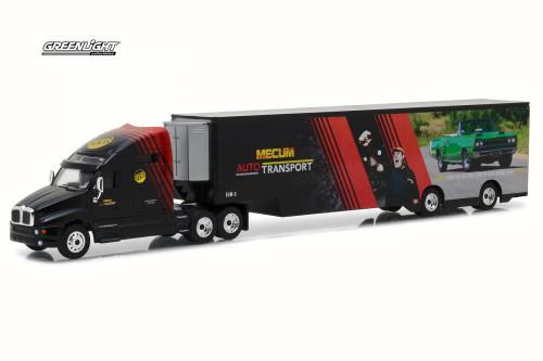 2017 Kenworth T2000 Transporter, Black - Greenlight 29928 - 1/64 Scale Diecast Model Toy Car