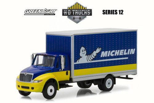 2013 International DuraStar Box Van, Michelin Tires - Greenlight 33120C/48 - 1/64 Scale Diecast Model Toy Car
