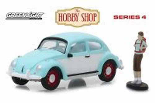 Volkswagen Beetle, Turquoise w/white - Greenlight 97040F/48 - 1/64 Scale Diecast Model Toy Car