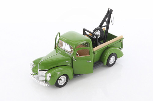 1940 Ford Tow Truck, Green - Showcasts 73234T/GN - 1/24 scale Diecast Model Toy Car