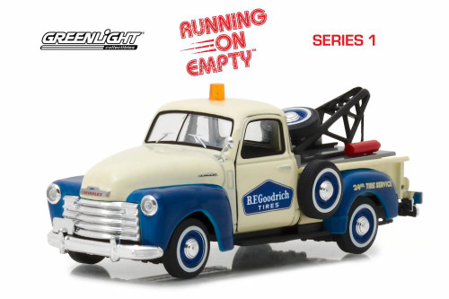 1953 Chevy 3100 Tow Truck, B.F. Goodrich Tires - Greenlight 87010C/24 - 1/43 scale Diecast Model Toy Car