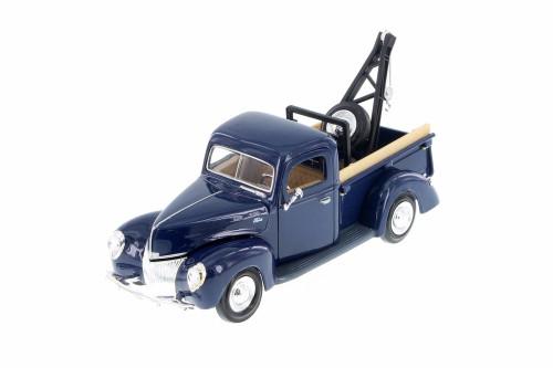 1940 Ford Tow Truck, Blue - Showcasts 73234T/BU - 1/24 scale Diecast Model Toy Car