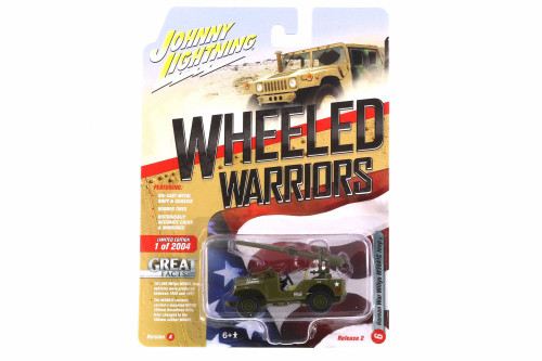 Korean War Willys M38A1C Jeep, Green - Johnny Lightning JLCP7272-24A - 1/64 scale Diecast Model Toy Car