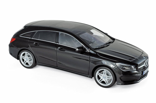 2015 Mercedes-Benz CLA Shooting Brake Wagon, Black - Norev 183598 - 1/18 scale Diecast Model Toy Car